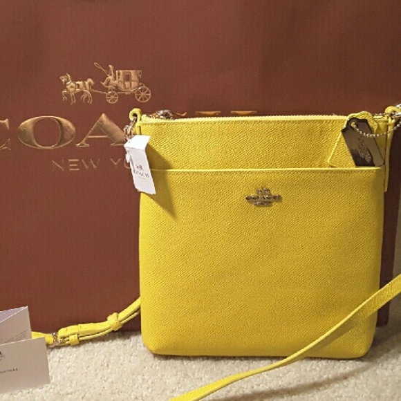 5f02b3f470 Coach Beautiful Sunshine Yellow Crossbody Bag NWT