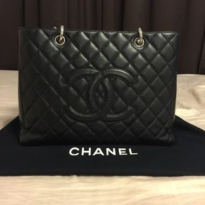 100% Authentic Chanel Classic GST Tote Caviar