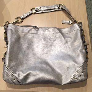 Coach Leather metallic limited edition purse