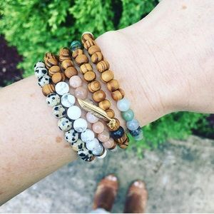 ⚡️SALE! Yin Yang Natural Stone Wood Bracelets