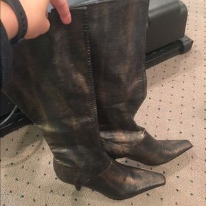 Nine West Snake Skin Boot