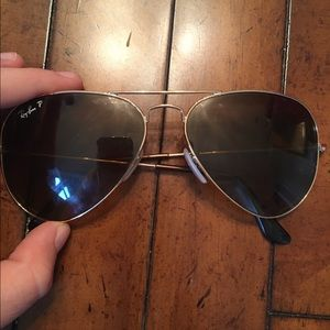 authentic polarized rayban aviators