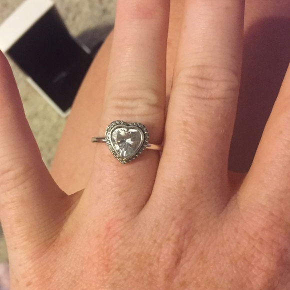 Silver Tiara Love Heart Ring