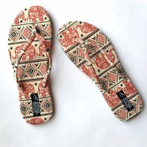 Last Pair‼️New! Elephant Print Sandals