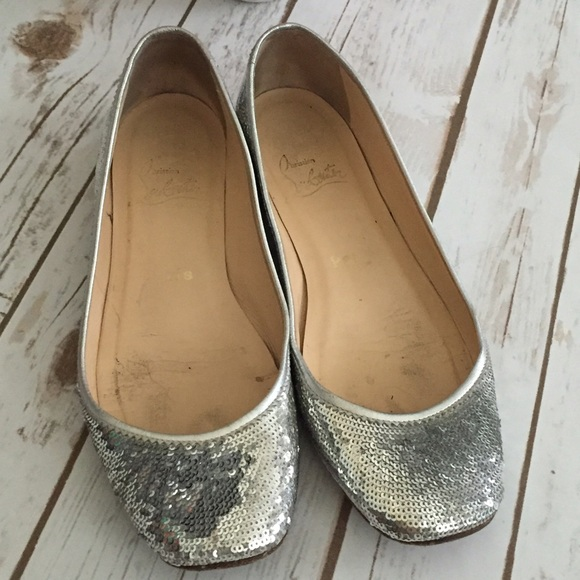 fe759953dc0 Christian Louboutin Shoes - HP 💐 authentic Christian Louboutin Sequin flats