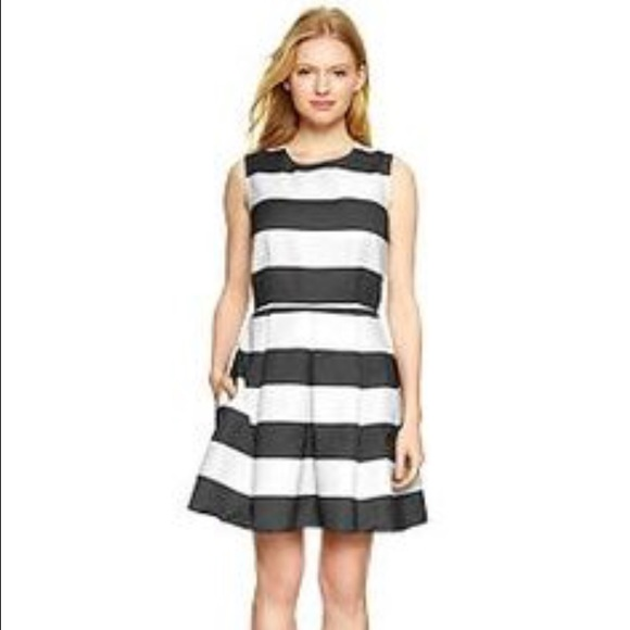 Black and White Striped Gap Dress