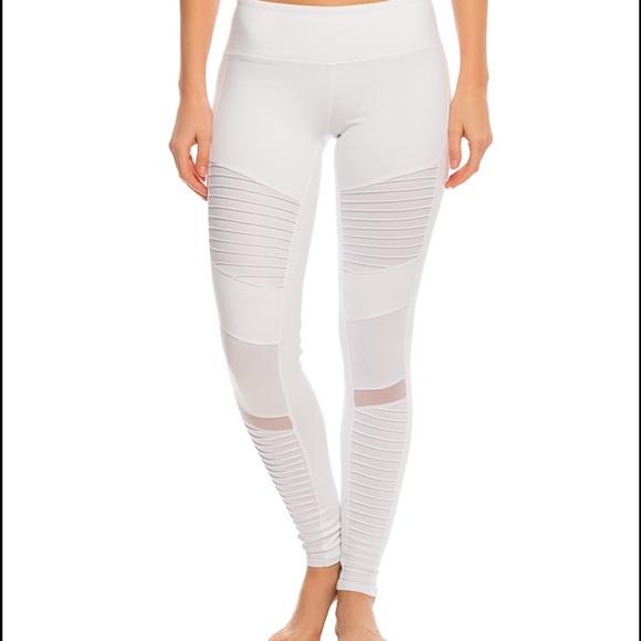 61e75b463bb6e6 ALO Yoga Pants | White Moto Leggings | Poshmark