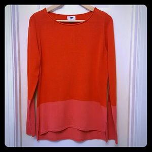 Old Navy Tops - Old Navy colorblock thin knit tunic sweater