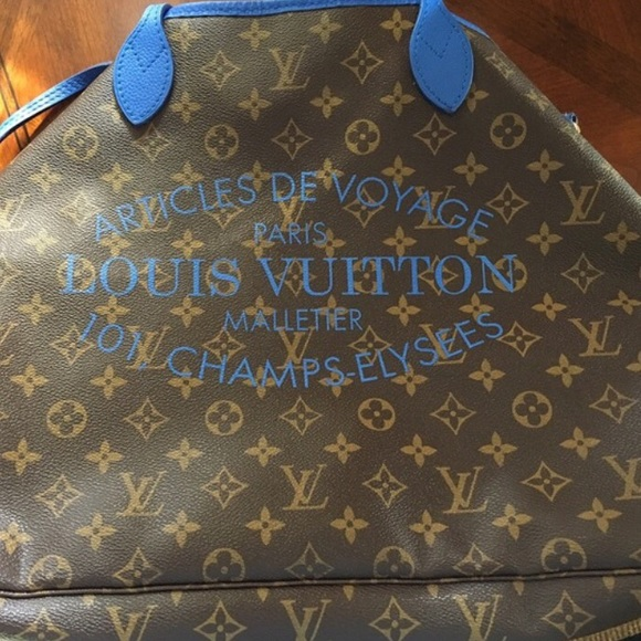 ed82bdf3fa88 Louis Vuitton Handbags - Louis Vuitton Neverfull ikat limited edition