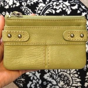 Fossil Wallet in Olive Green