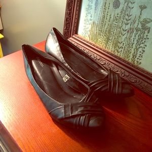 Black flats with small heel. Size 8.5
