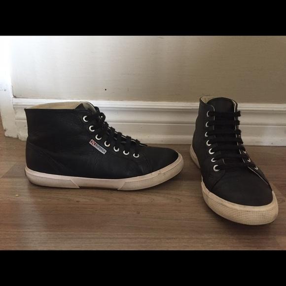 Superga Leather Hi Top Sneaker bD43wka3v