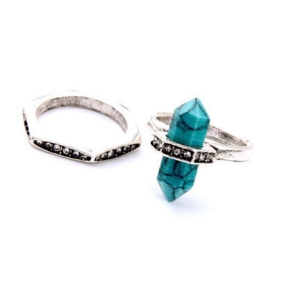 14ddd92f99c Alyssa Carrick Jewelry | Medina Turquoise Stackable Rings | Poshmark