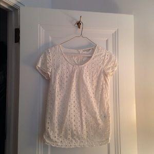 Boden, off white, size 2 shirt
