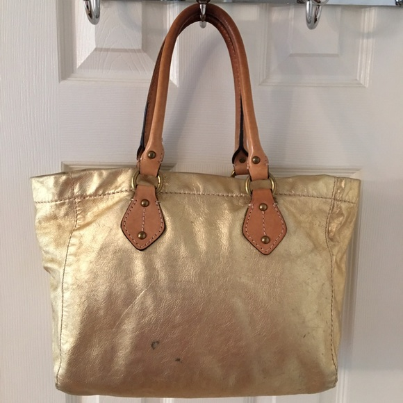 1090284c2e J. Crew Handbags - 🛍 J. Crew Gold Leather Tote Bag