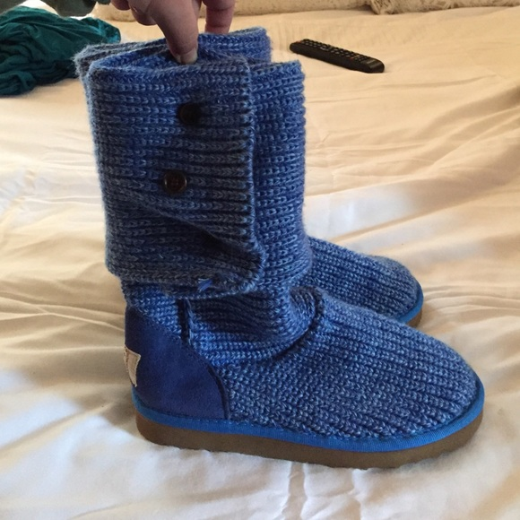 67% off UGG Shoes - BLUE UGG CROCHET BOOTS from Meghans closet on ...