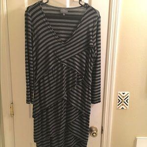 Market and Spruce Asymmetrical Striped dress XL
