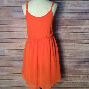 Lush Dresses & Skirts - ❤ LUSH Orange semi sheer dress