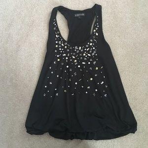 Black jeweled tank top