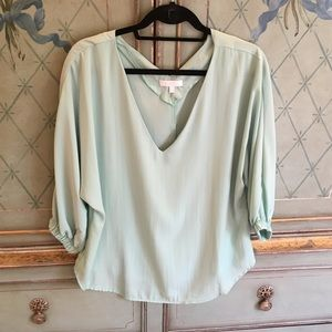 Silky mint top