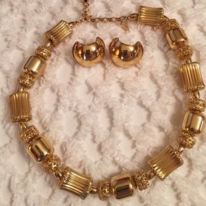 Monet Jewelry - Vintage Monet Choker and Earring Set