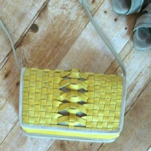 Cole Haan Handbags - NWT Cole Haan woven leather crossbody clutch