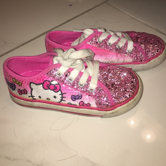 e5b75eed227ed Hello Kitty Other - Sparkly hello kitty little girl shoes size 9