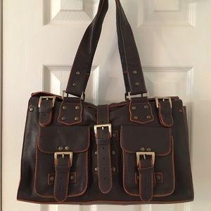 Tess Handbags - 🛍 TESS Brown Leather Shoulder Bag