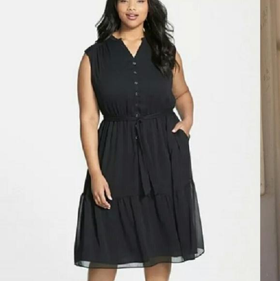 Sejour Dresses | Black Plus Size Peasant Dress | Poshmark