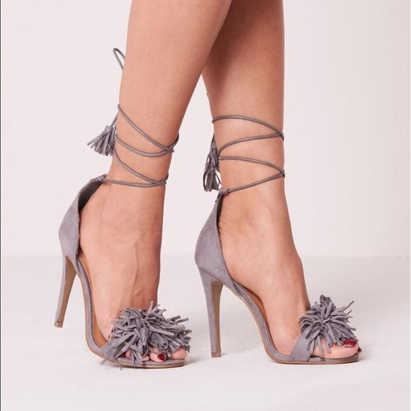 056f8b5b100 Tassel Lace Up Heel NWT
