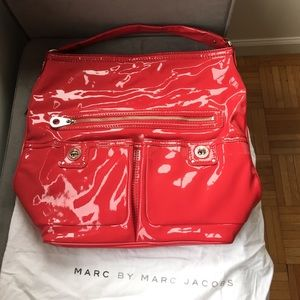 Marc by Marc Jacobs 'Faridah' red patent bag