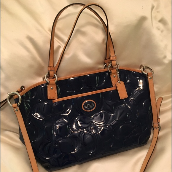 a8a38833654b france coach peyton patent leather tote 7d098 064ee