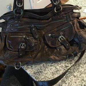Large Junior Drake Leather Hobo