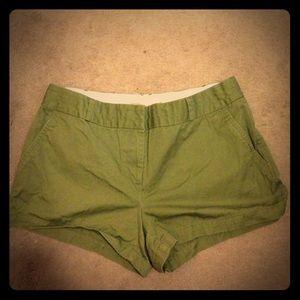 Pants - Green Contemporary Shorts