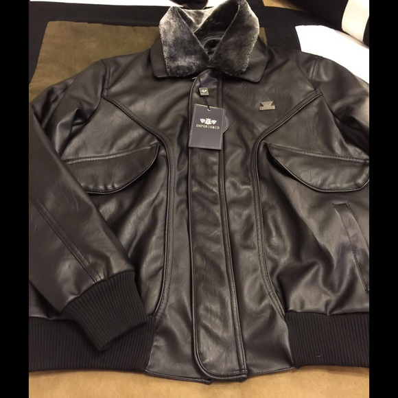 b007580f9 Made Italy Leather Jacket Emporio Armani & Co.