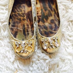 Sam Edelman Shoes - Gold Gem Sam Edelman Flats!