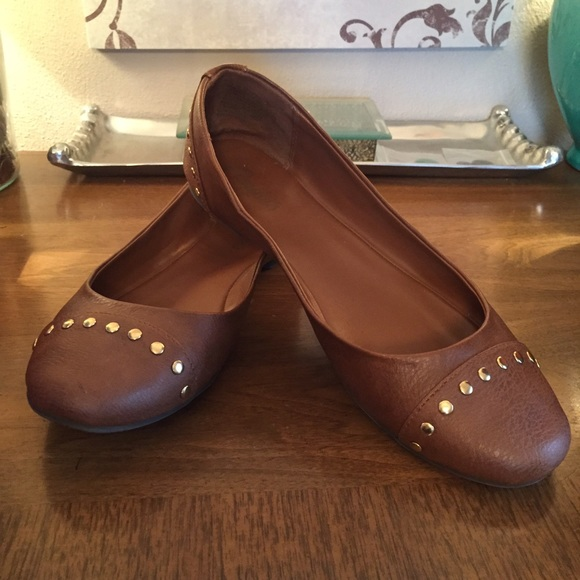 3ea713201ee3 Candie's Shoes | Candies Cognac Studded Flats | Poshmark