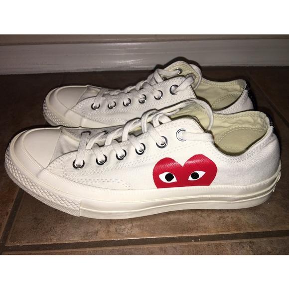 588de591a840d6 Converse Shoes - Converse Comme Des Garcons Sneakers White Sz 8