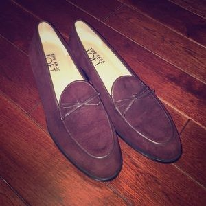 The Shoe Loft Shoes - Burgundy Suede Loafers