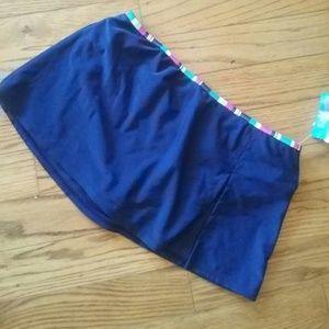VM Other - Navy blue skirtini skirt swim bottom coverup
