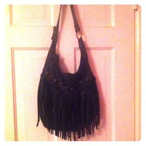 Black Fringe Purse