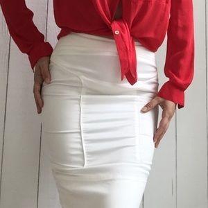 5c332ce77 Gucci Skirts | White Pencil Skirt | Poshmark
