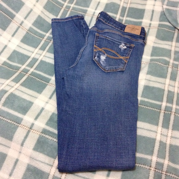 69e992a85 Abercrombie & Fitch Pants | Abercrombie Fitch Blue Distressed Jeans ...