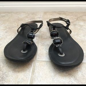 Banana republic sandals leather