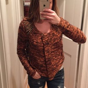 ASTR Sweaters - ASTR Studded Sweater Zip Jacket