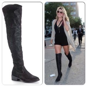 Rock & Republic Over The Knee Black Boots 7