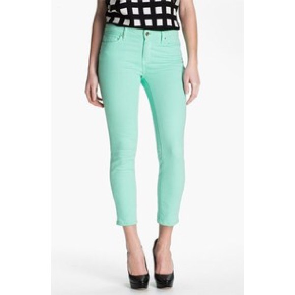 60% off Express Pants - Mint Green Express Cropped Pants from ...