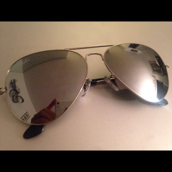 56142ace115b3 Ray-Ban Accessories   Rayban Aviator Sunglasses Silver Lens Frame ...