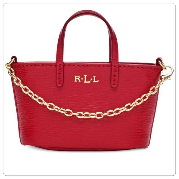 5103f373df8e0 NWT Ralph Lauren Mini bag charm