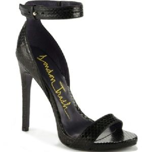 Christian Louboutin Shoes - faux snake skin heels w/ genuine leather.